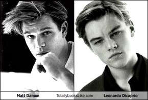 Matt Damon Totally Looks Like Leonardo Dicaprio