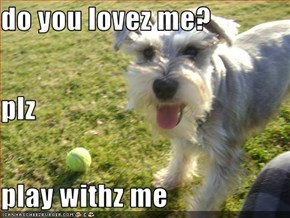do you lovez me? plz play withz me