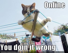 Online  You doin it wrong
