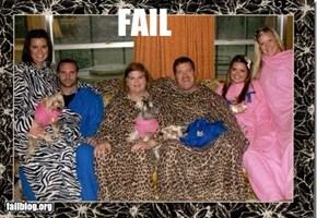 Snuggie Family Christmas