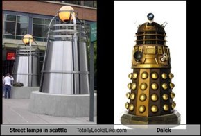 Street lamps in seattle Totally Looks Like Dalek