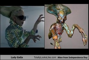 Lady GaGa Totally Looks Like Alien from Independence Day