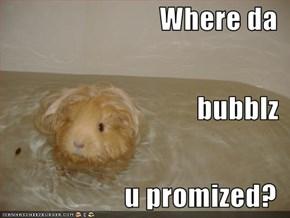 Where da bubblz u promized?