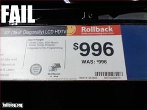 price rollback?