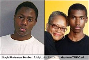 Stupid Underwear Bomber Totally Looks Like Guy from YAHOO ad