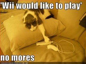 'Wii would like to play'  no mores