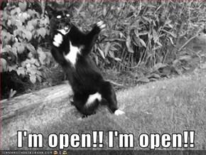 I'm open!! I'm open!!