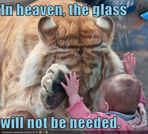 In heaven, the glass  will not be needed.