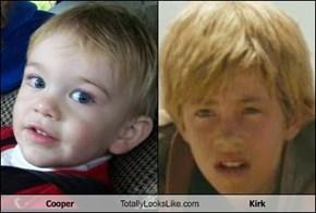 Cooper Totally Looks Like Kirk