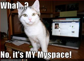 What...?  No, it's MY Myspace!
