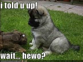 i told u up!  wait... hewo?