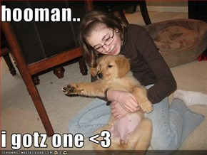 hooman..  i gotz one <3
