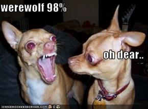 werewolf 98%  oh dear..