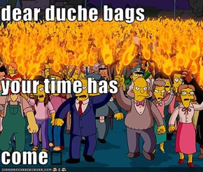 dear duche bags your time has come�