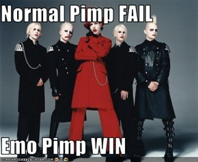 Normal Pimp FAIL  Emo Pimp WIN