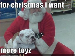 for christmas i want  more toyz