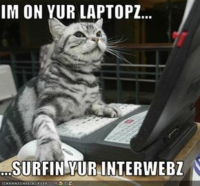 IM ON YUR LAPTOPZ...  ...SURFIN YUR INTERWEBZ