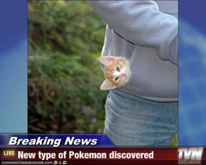 Breaking News - New type of Pokemon discovered
