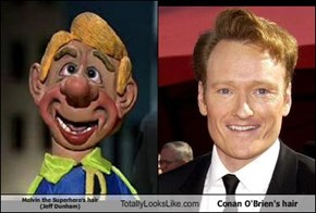 Melvin the Superhero's hair (Jeff Dunham)  Totally Looks Like Conan O'Brien's hair