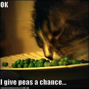OK  I give peas a chance...