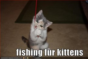 fishing fur kittens