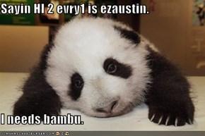 Sayin HI 2 evry1 is ezaustin.  I needs bambu.