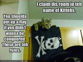 I claim dis room in teh name of Kittehs.