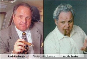 Rush Limbaugh Totally Looks Like Archie Bunker