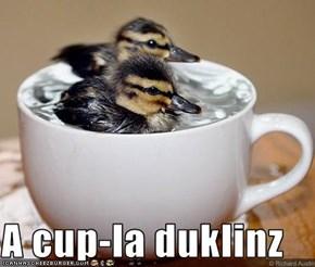 A cup-la duklinz