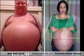Beer Belly Dude Totally Looks Like Octomom Nadya Suleman