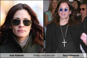 Julia Roberts Totally Looks Like Ozzy Osbourne