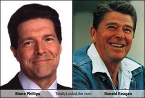 Stone Phillips Totally Looks Like Ronald Reagan