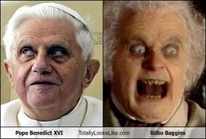 Pope Benedict XVI Totally Looks Like Bilbo Baggins