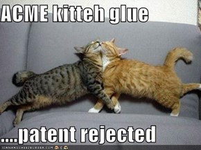 ACME kitteh glue  ....patent rejected