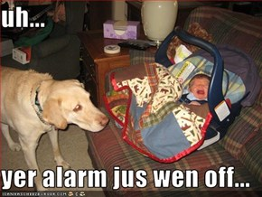 uh...  yer alarm jus wen off...