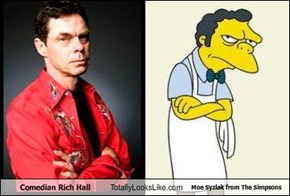 Comedian Rich Hall Totally Looks Like Moe Syzlak from The Simpsons