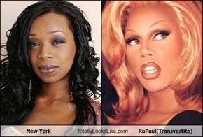 New York Totally Looks Like RuPaul(Transvestite)