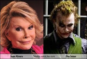 Joan Rivers Totally Looks Like The Joker