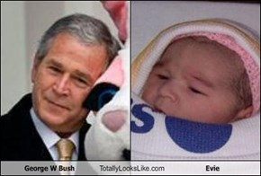 George W Bush Totally Looks Like Evie
