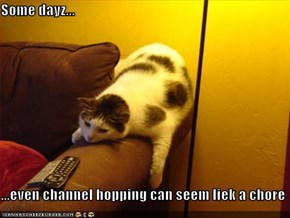Some dayz...  ...even channel hopping can seem liek a chore