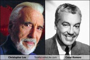 Christopher Lee Totally Looks Like Cesar Romero