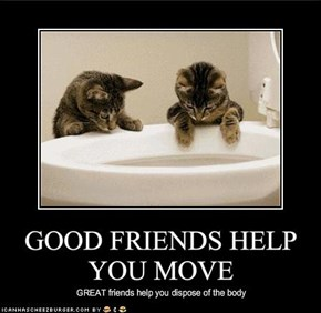 GOOD FRIENDS HELP YOU MOVE