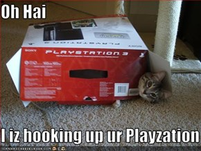 Oh Hai  I iz hooking up ur Playzation 3