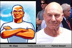 Mr. Clean Totally Looks Like Patrick Stewart