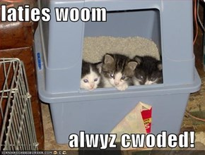 laties woom  alwyz cwoded!