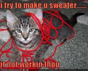 i try to make u sweater......  it not workin thou
