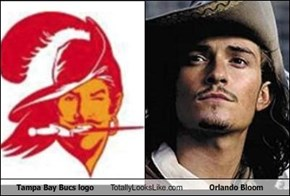 Tampa Bay Bucs logo Totally Looks Like Orlando Bloom