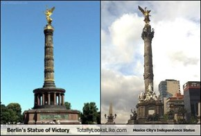 Berlin's Statue of Victory Totally Looks Like Mexico City's Independence Statue