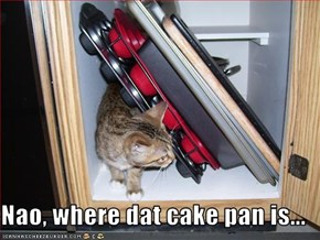 Nao, where dat cake pan is...