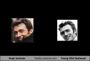 Hugh Jackman Totally Looks Like Young Clint Eastwood